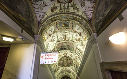 Interiors of Raphael rooms, Vatican museum, Vatican Royalty Free Stock Photos