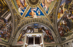 Interiors of Raphael rooms, Vatican museum, Vatican Stock Photography