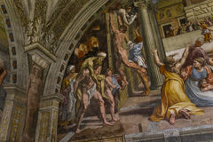 Interiors of Raphael rooms, Vatican museum, Vatican Stock Photos