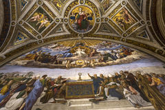 Interiors of Raphael rooms, Vatican museum, Vatican Stock Image