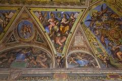 Interiors of Raphael rooms, Vatican museum, Vatican Royalty Free Stock Images