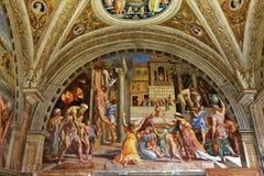 Interiors of Raphael rooms, Vatican museum, Vatican Stock Photo