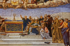 Interiors of Raphael rooms, Vatican museum, Vatican Royalty Free Stock Photography