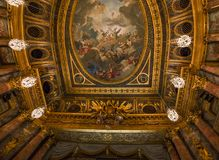 Interiors of the royal opera, Versailles, France Stock Images