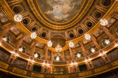 Interiors of the royal opera, Versailles, France Stock Image