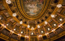 Interiors of the royal opera, Versailles, France Royalty Free Stock Photos