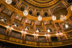 Interiors of the royal opera, Versailles, France Royalty Free Stock Photography