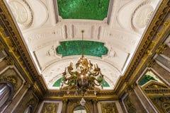 Interiors of Royal Palace, Brussels, Belgium. Interiors lusters, roofs and details of Royal Palace, Brussels, Belgium Stock Photos