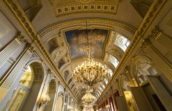Interiors of Royal Palace, Brussels, Belgium Royalty Free Stock Photography