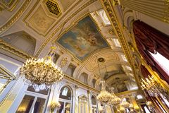 Interiors of Royal Palace, Brussels, Belgium Royalty Free Stock Photo