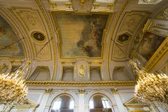 Interiors of Royal Palace, Brussels, Belgium Stock Photography
