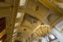 Interiors of Royal Palace, Brussels, Belgium Stock Images