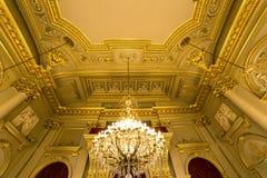 Interiors of Royal Palace, Brussels, Belgium. Interiors lusters, roofs and details of Royal Palace, Brussels, Belgium Royalty Free Stock Photo