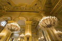 Interiors of Royal Palace, Brussels, Belgium. Interiors lusters, roofs and details of Royal Palace, Brussels, Belgium Stock Photography