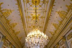 Interiors of Royal Palace, Brussels, Belgium. Interiors lusters, roofs and details of Royal Palace, Brussels, Belgium Royalty Free Stock Photos