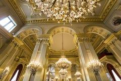 Interiors of Royal Palace, Brussels, Belgium. Interiors lusters, roofs and details of Royal Palace, Brussels, Belgium Stock Image