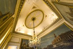 Interiors of Royal Palace, Brussels, Belgium Royalty Free Stock Photos