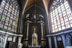 Interiors of Saint Bavon cathedral, Ghent, Belgium Royalty Free Stock Photo