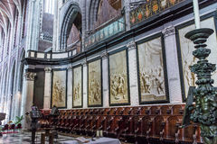 Interiors of Saint Bavon cathedral, Ghent, Belgium Royalty Free Stock Images