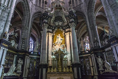 Interiors of Saint Bavon cathedral, Ghent, Belgium Royalty Free Stock Image