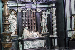 Interiors of Saint Bavon cathedral, Ghent, Belgium Stock Image