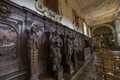 Interiors of Saint Charles Borromee church, Anvers, Belgium Royalty Free Stock Photography