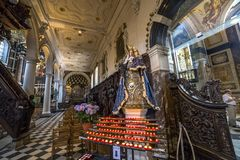 Interiors of Saint Charles Borromee church, Anvers, Belgium Royalty Free Stock Photos