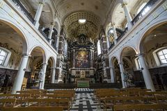 Interiors of Saint Charles Borromee church, Anvers, Belgium Royalty Free Stock Photo