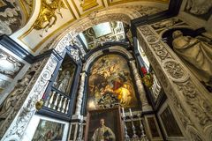 Interiors of Saint Charles Borromee church, Anvers, Belgium Stock Photos