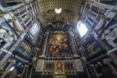 Interiors of Saint Charles Borromee church, Anvers, Belgium Stock Images