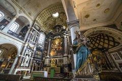 Interiors of Saint Charles Borromee church, Anvers, Belgium Stock Photo