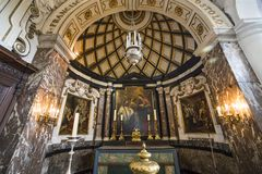 Interiors of Saint Charles Borromee church, Anvers, Belgium Royalty Free Stock Image