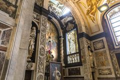 Interiors of Saint Charles Borromee church, Anvers, Belgium Royalty Free Stock Images