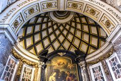 Interiors of Saint Charles Borromee church, Anvers, Belgium Stock Photography