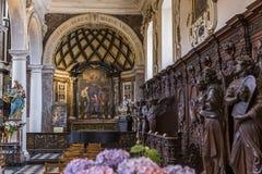 Interiors of Saint Charles Borromee church, Anvers, Belgium Royalty Free Stock Image