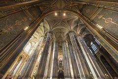 Interiors of Saint Eustache church, Paris, France Royalty Free Stock Image