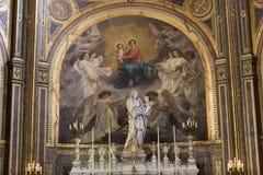 Interiors of Saint Eustache church, Paris, France Royalty Free Stock Photography