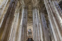 Interiors of Saint Eustache church, Paris, France Stock Photo