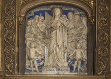 Interiors of Saint Eustache church, Paris, France Royalty Free Stock Image