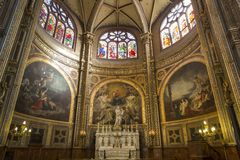 Interiors of Saint Eustache church, Paris, France Stock Photography