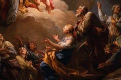 Interiors of saint-louis en l`ile church, Paris, France Stock Photography