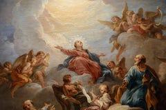 Interiors of saint-louis en l`ile church, Paris, France Royalty Free Stock Image