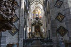 Interiors of Saint Nicholas' Church, Ghent, Belgium Stock Image