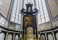 Interiors of Saint Nicholas' Church, Ghent, Belgium Stock Images