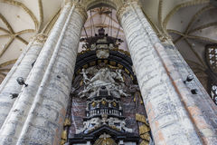 Interiors of Saint Nicholas' Church, Ghent, Belgium Royalty Free Stock Photography