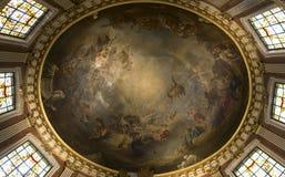 Interiors of Saint Roch church, Paris, France Stock Images