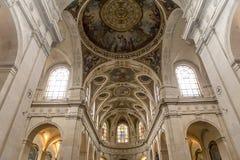Interiors of Saint Roch church, Paris, France Stock Image