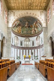 Interiors of Saint Sabina Basilica in Rome, Italy Stock Photography