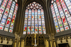 Interiors of Saint Salvator's Cathedral, Bruges, Belgium Stock Photos