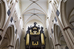 Interiors of Saint Salvator's Cathedral, Bruges, Belgium Stock Photography